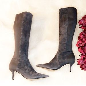 IVANKA TRUMP Gray Suede Tall Boots